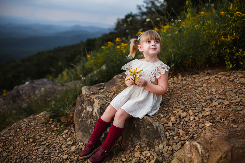 Virginia Family Photographer, little girl with flowers