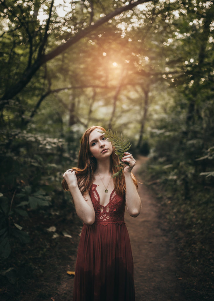 Virginia Senior Photographer, young woman posing in a forest